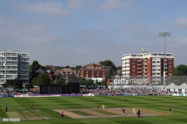 General view of the one day tour match between Sussex and Australia at The 1st Central County Ground on June 7, 2018 in Hove, England.