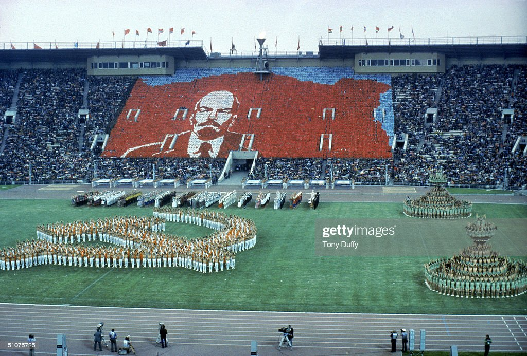 Image result for 1980 summer olympics opening ceremonies images lenin