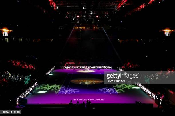 General view of the Opening Ceremony during day 1 of the BNP Paribas WTA Finals Singapore presented by SC Global at Singapore Sports Hub on October...