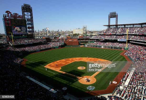 General View of the opening ceremony during the MLB game at Citizens Bank Park on April 4, 2005 in Philadelphia, Pennsylvania. The Phillies won 8-4.