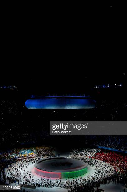 General view of the Opening Ceremony for the 2011 XVI Pan American Games at Omnilife Stadium on October 14, 2011 in Guadalajara, Mexico.
