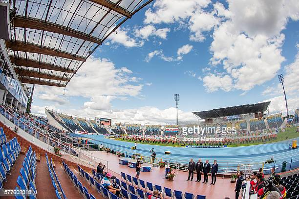 General view of the opening ceremony for the IAAF World U20 Championships at the Zawisza Stadium on July 19, 2016 in Bydgoszcz, Poland.