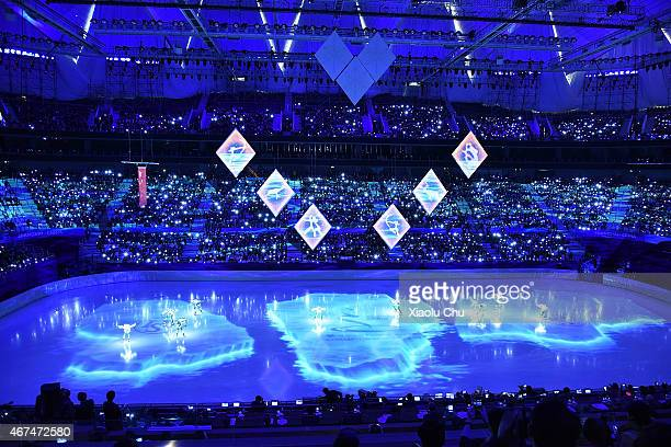 A general view of the opening ceremony of ISU World Figure Skating Championships 2015 on March 25 2015 in Shanghai China