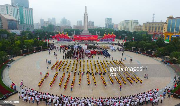 General view of the opening ceremony of the 5th Nanchang International Military Tattoo on September 24 2017 in Nanchang Jiangxi Province of China...