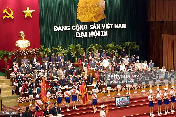 General view of the opening ceremony of the 9th National Congress of the Vietnamese Communist party 19 April 2001 Some 1170 delegates from all parts...