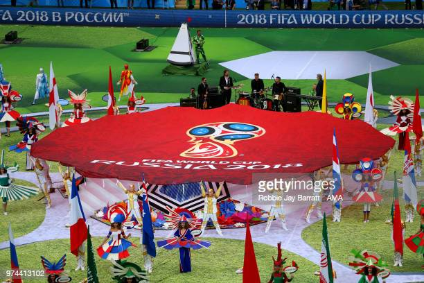 General View of the opening ceremony prior to the 2018 FIFA World Cup Russia group A match between Russia and Saudi Arabia at Luzhniki Stadium on...