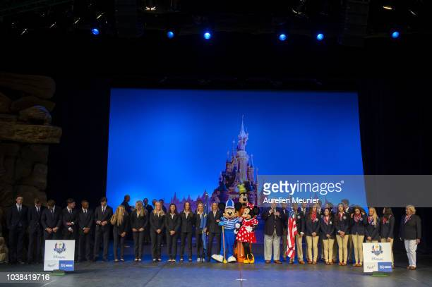 A general view of the opening ceremony prior to the Junior Ryder Cup at Disneyland Paris on September 23 2018 in Paris France