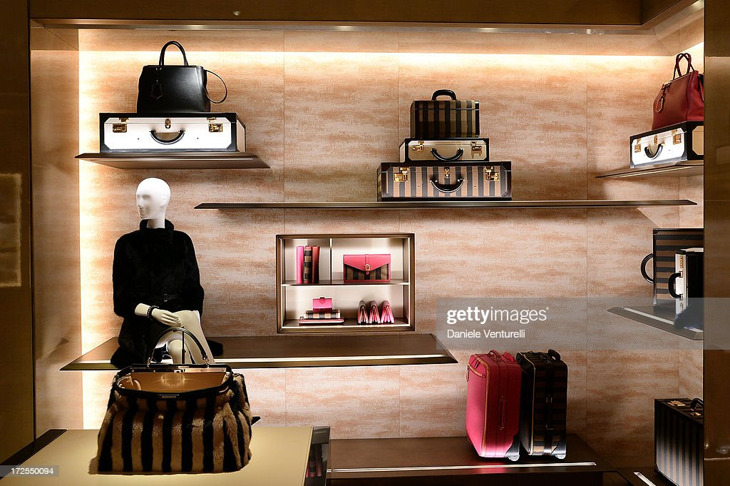 General view of the opening of Fendi's new boutique at 51 Avenue Montaine on July 3, 2013 in Paris, France.