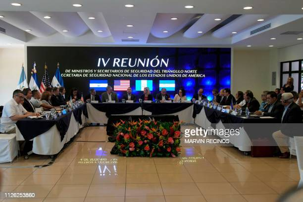 General view of the opening of the fourth meeting of security ministers of the 'Northern Triangle' and United States Secretary of Homeland Security...