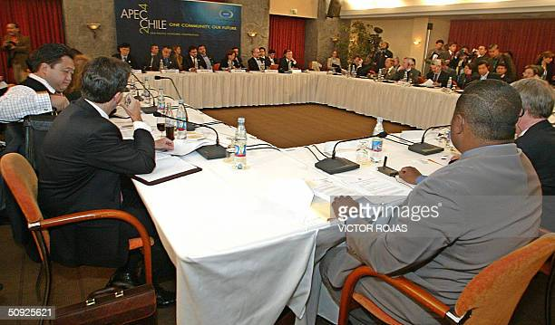 General view of the opening session of the APEC meeting in Pucon Chile 04 June 2004 Trade ministers of 21 AsiaPacific economies open talks focusing...