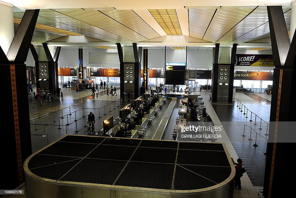 A general view of the O.R. Tambo international airport domestic check in counters is seen on May 25, 2010 in Johannesburg, South Africa. South Africa will host the FIFA World Cup 2010 from June 11, to July 11, 2010.