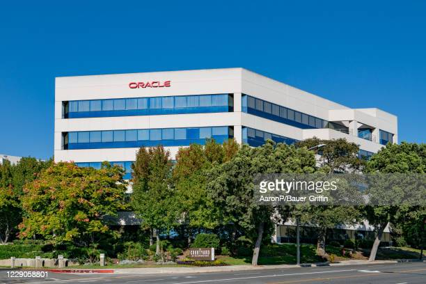General view of the Oracle Corporation corporate offices on October 13, 2020 in Culver City, California.