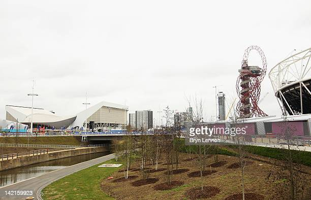 General view of The Orbit during the National Lottery Olympic Park Run at Olympic Stadium on March 31, 2012 in London, England.