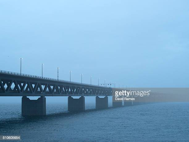 A general view of the Oresund bridge on February 5 2016 in Malmo Sweden Last year Sweden received 162877 asylum applications more than any European...