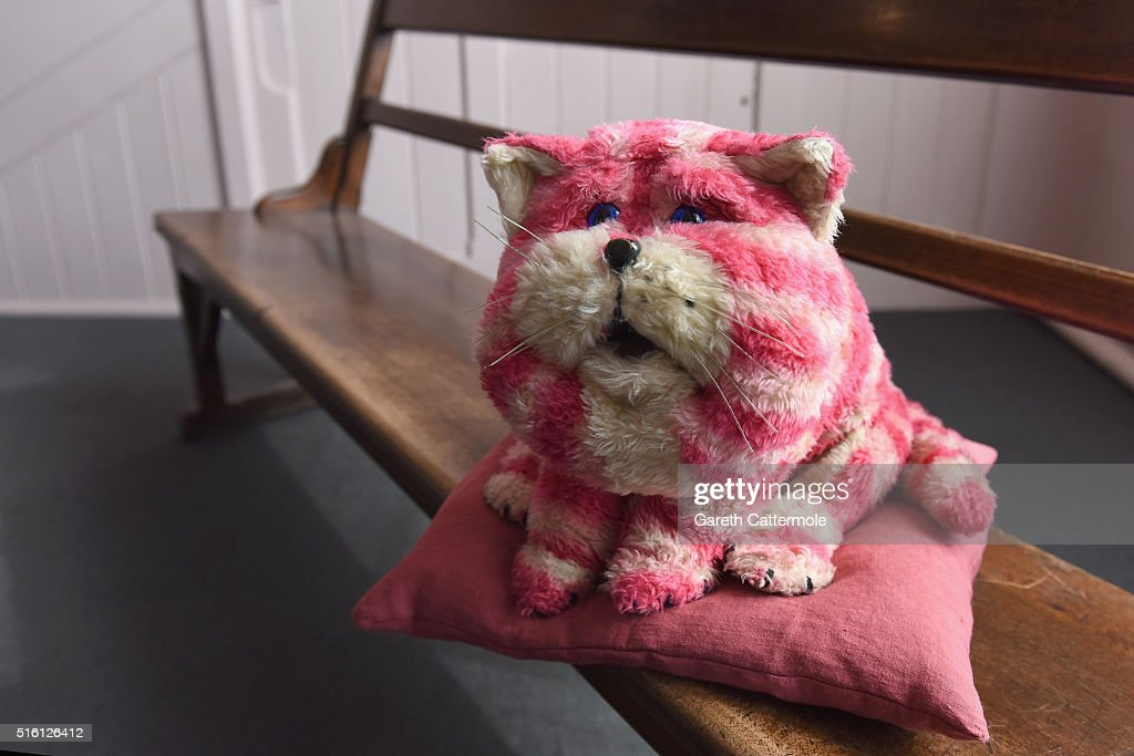 A general view of the original Bagpuss during a photocall for the Bagpuss And The Clangers Retrospective Of Smallfilms at the V&A Museum Of Childhood on March 17, 2016 in London, England.