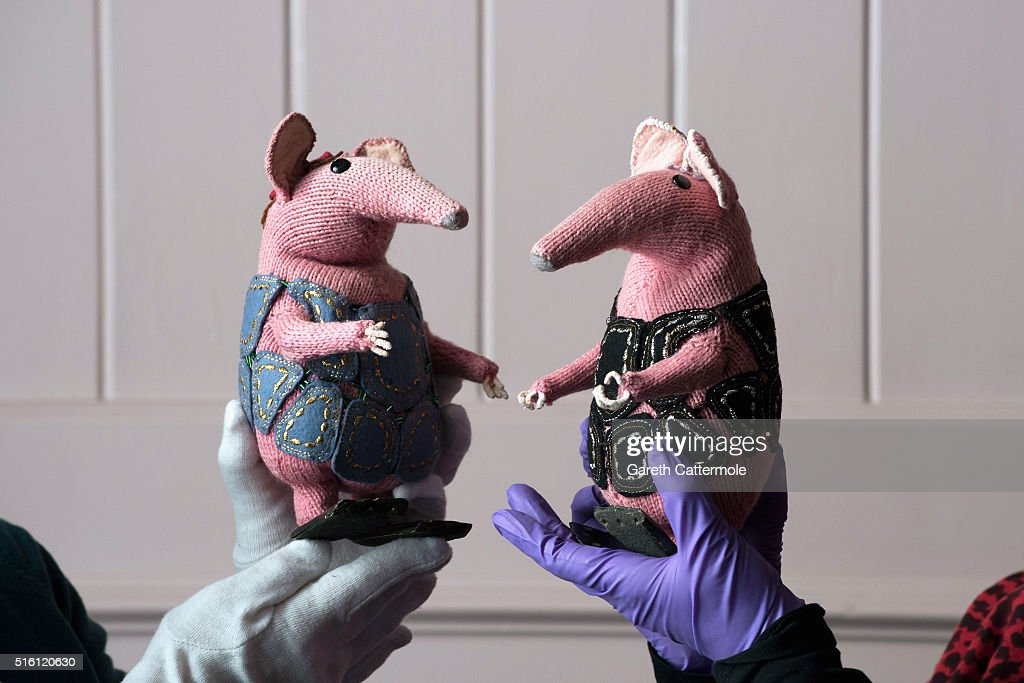 A general view of the original Clangers during a photocall for the Bagpuss And The Clangers Retrospective Of Smallfilms at the V&A Museum Of Childhood on March 17, 2016 in London, England.