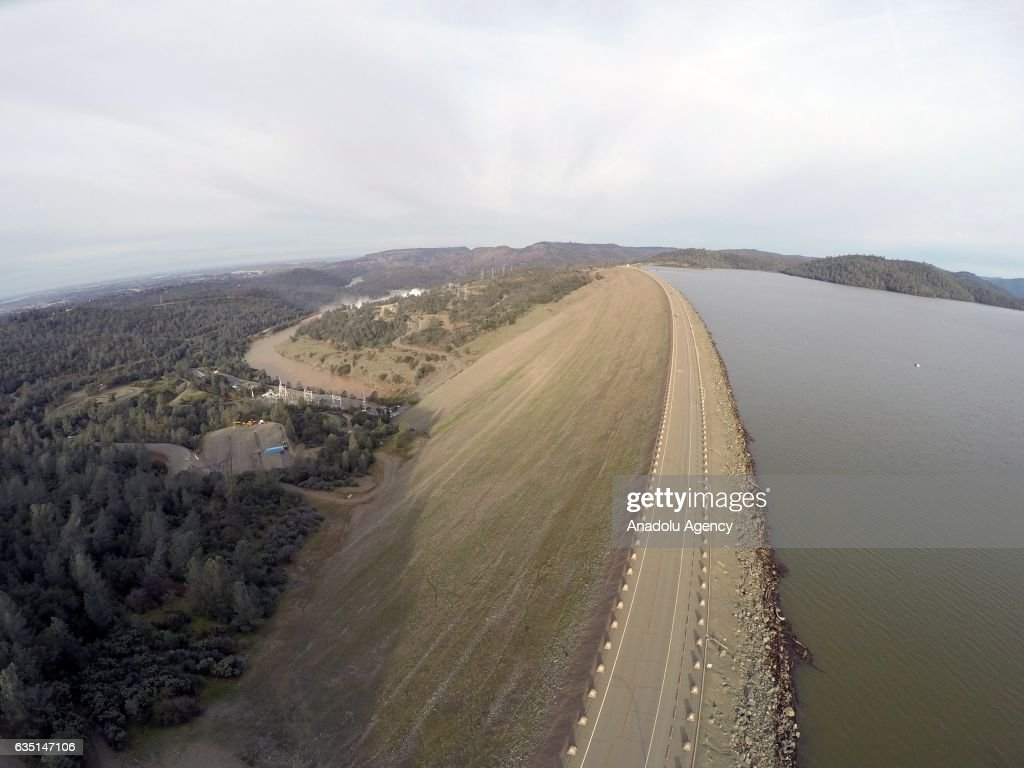 A general view of the Oroville dam, the tallest dam in the