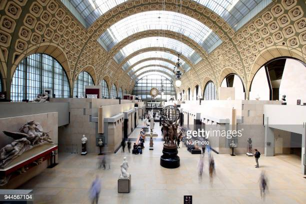 General view of the Orsay Museum - the former Gare d'Orsay train station, in Paris, on April 6, 2018.