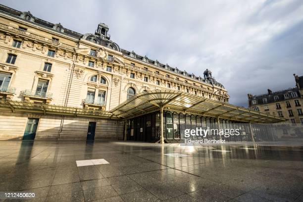 General view of the Orsay Museum which is closed until further notice, due to the Coronavirus Covid-19 outbreak. French Prime Minister Edward...