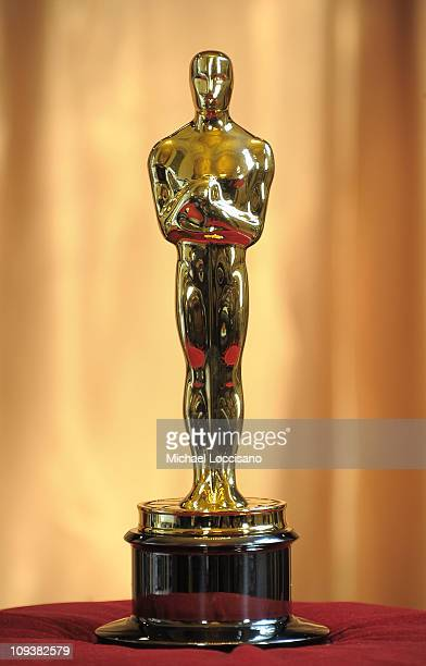 General view of the Oscar statuette during the 83rd Annual Academy Awards Meet The Oscars New York at Grand Central Terminal on February 23 2011 in...