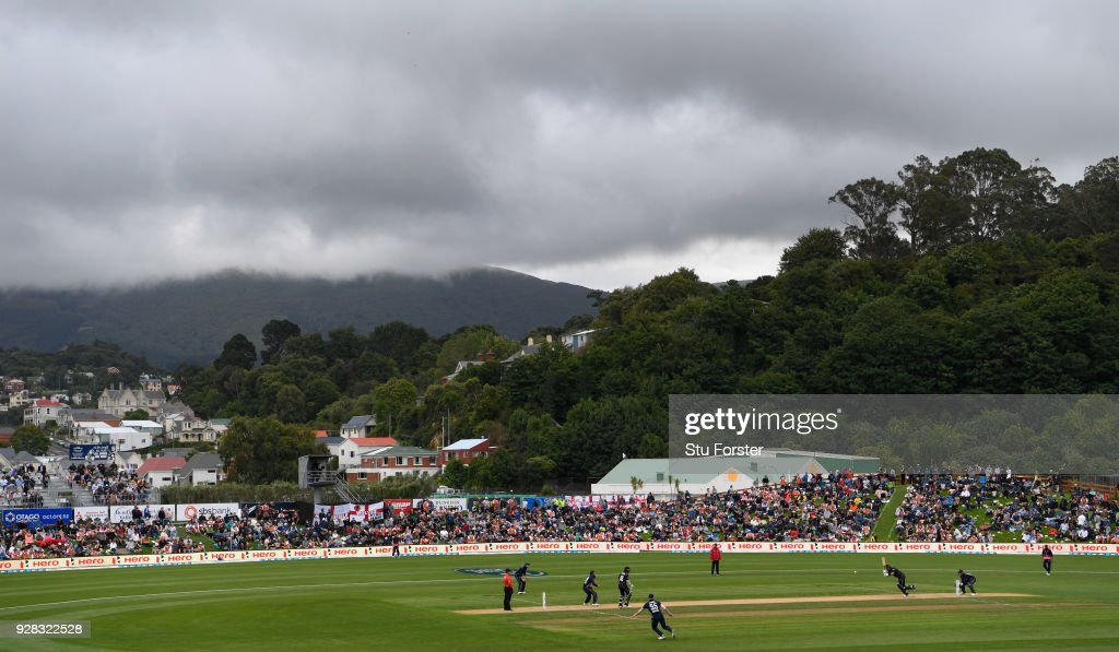 General view of the Otago Oval during the 4th ODI between New Zealand and England at University of Otago Oval on March 7, 2018 in Dunedin, New Zealand.