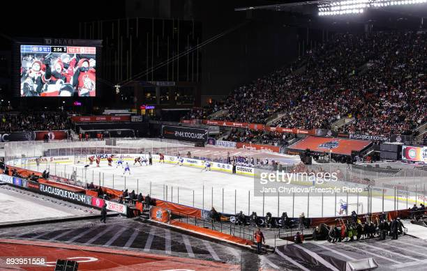 General view of the Ottawa Senators playing against the Montreal Canadiens during the of the 2017 Scotiabank NHL100 Classic at Lansdowne Park on...