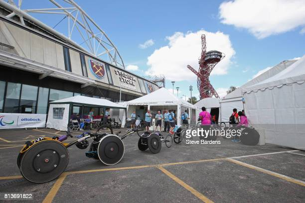 General view of the Ottobock Workshop at the World Para Athletics Championships at The London Stadium on July 12 2017 in London England