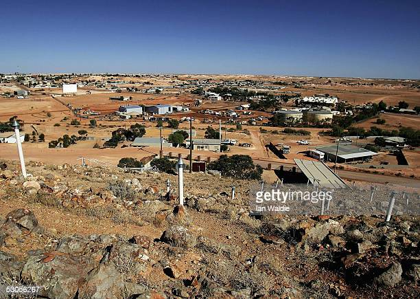General view of the outback mining town of Coober Pedy June 12 Australia Australia supplies 95 percent of the world's opal supply with most coming...