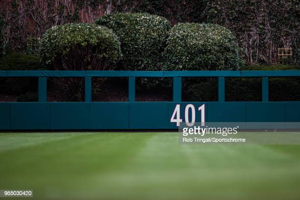 A general view of the outfield wall during the game between the Philadelphia Phillies and the Atlanta Braves at Citizens Bank Park on Sunday April 29...