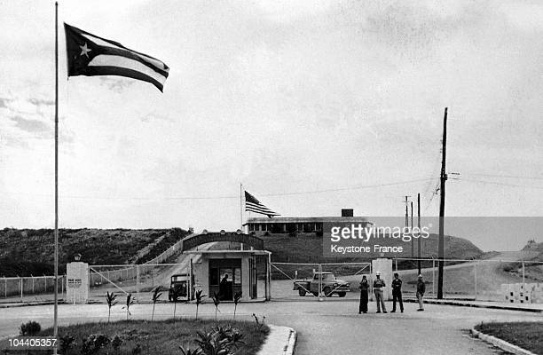 General view of the outside check point at the entrance of the American military base at Guantanamo Cuba This was the main American base in Cuba and...