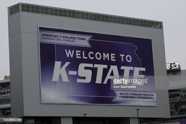 General view of the outside of Bill Snyder Family Stadium before a Big 12 matchup between the Texas Longhorns and Kansas State Wildcats on September...