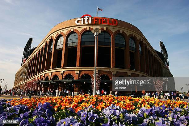 General view of the outside of Citi Field before the game between the New York Mets and the Florida Marlins on April 28, 2009 at Citi Field in the...