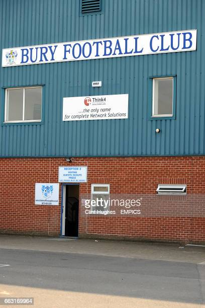 General view of the outside of Gigg Lane home of Bury FC