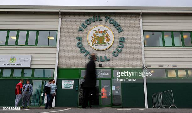 General view of the outside of Huish Park during the Sky Bet League Two match between Yeovil Town and Oxford United at Huish Park on December 28 2015...