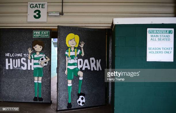 General view of the outside of Huish Park during the Sky Bet League Two match between Yeovil Town and Chesterfield at Huish Park on January 20, 2018...