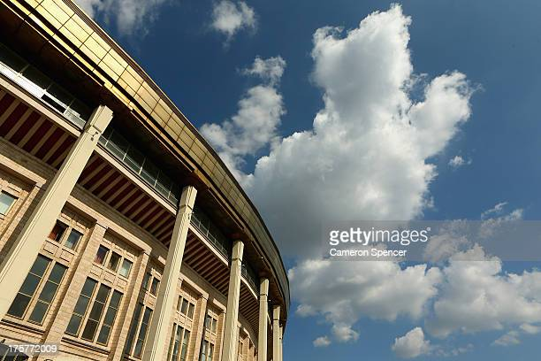 A general view of the outside of Luzhniki Stadium ahead of the 14th IAAF World Athletics Championships Moscow 2013 on August 8 2013 in Moscow Russia