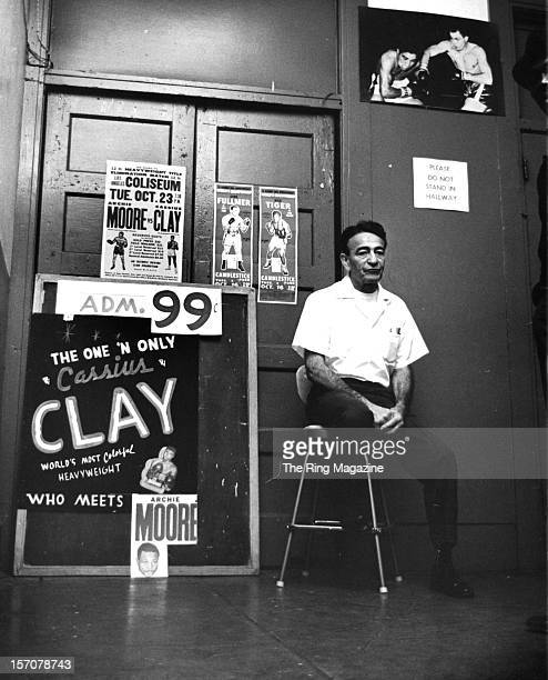 A general view of the outside of Main Street Gym where Muhammad Ali trains for the upcoming Archie Moore fight in November 1962 in Los...