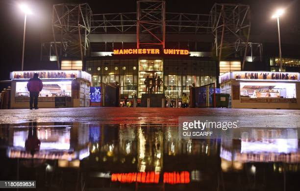General view of the outside of Old Trafford stadium ahead of the UEFA Europa League Group L football match between Manchester United and Partizan...
