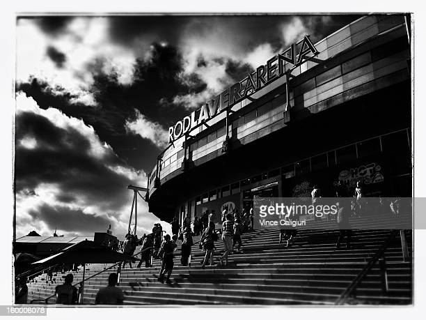 A general view of the outside of Rod Laver Arena on day five of the 2013 Australian Open at Melbourne Park on January 18 2013 in Melbourne Australia