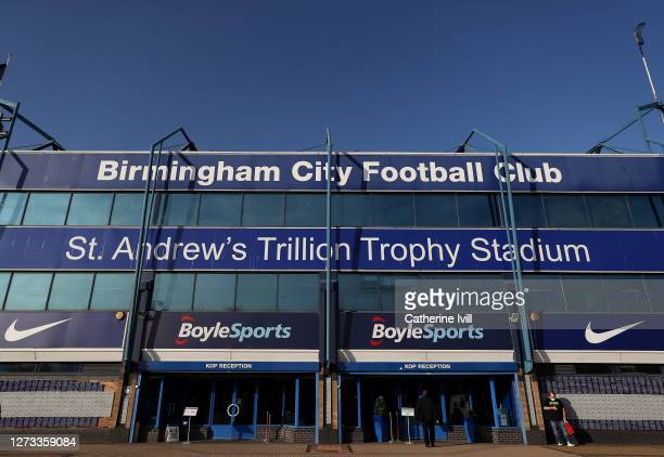General view of the outside of stadium, home of Birmingham City, where Coventry City continue to play their home fixtures during the Sky Bet...