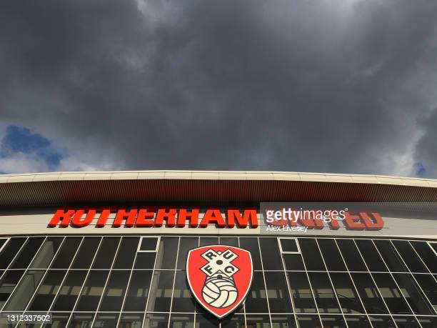 General view of the outside of the AESSEAL New York Stadium before the Sky Bet Championship match between Rotherham United and Queens Park Rangers at...