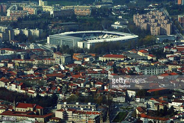 A general view of the outside of the Afonso Henriques Stadium Guimaraes Portugal One of the venues for the European Championships in 2004