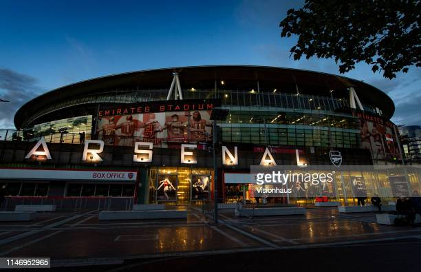 A general view of the outside of the Emirates Stadium home of Arsenal FC on May 2 2019 in London United Kingdom