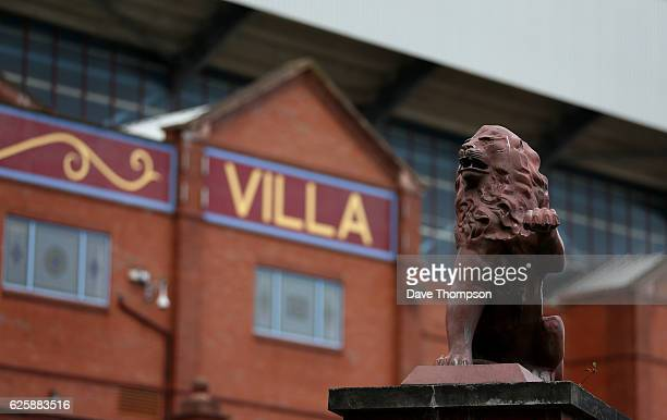 A general view of the outside of the ground prior to the Sky Bet Championship match between Aston Villa and Cardiff City at Villa Park on November 26...