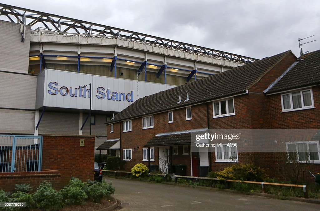 General view of the outside of the South Stand of the stadium alongside residential housing at prior to the Barclays Premier League match between Tottenham Hotspur and Watford at White Hart Lane on February 6, 2016 in London, England.