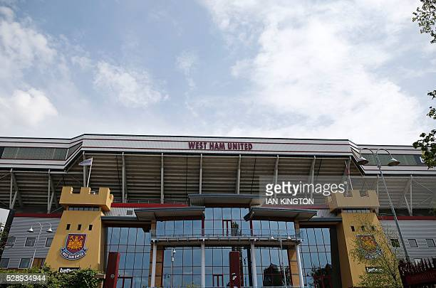 General view of the outside of the stadium ahead of the English Premier League football match between West Ham United and Swansea City at The Boleyn...