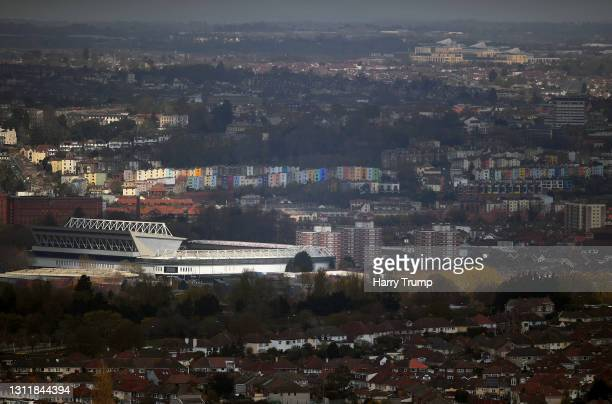 General view of the outside of the stadium ahead of the Sky Bet Championship match between Bristol City and Nottingham Forest at Ashton Gate on April...