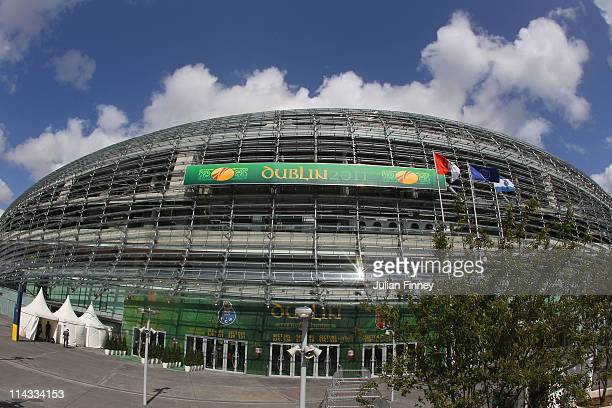 A general view of the outside of the stadium ahead of the UEFA Europa League Final between FC Porto and SC Braga at Dublin Arena on May 18 2011 in...