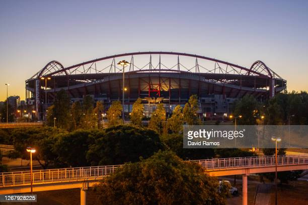 General view of the outside of the stadium ahead of the UEFA Champions League Final match between Paris Saint-Germain and Bayern Munich at Estadio do...