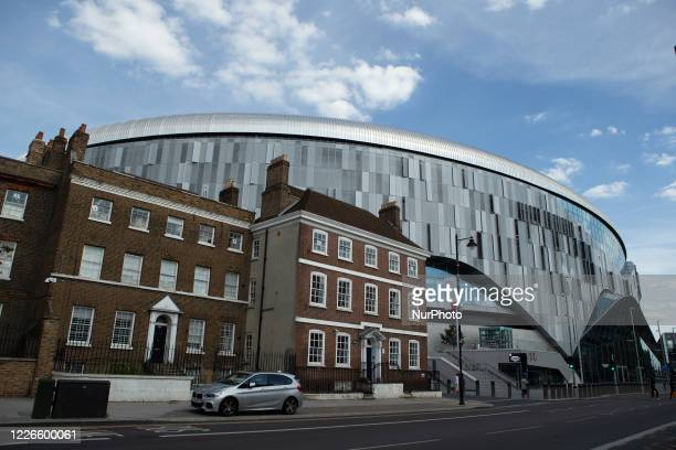 General view of the outside of the stadium during the Premier League match between Tottenham Hotspur and Arsenal at the Tottenham Hotspur Stadium,...